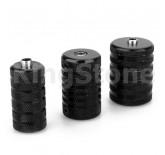 Black Aluminum Grips